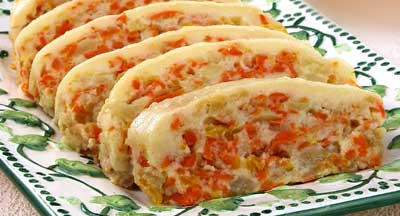 Яблочно-морковный рулет рецепт